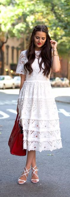 Feminine and sophisticated! Where would you sport this little crochet number?