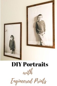 DIY portraits with engineered prints. Learn how to create your own oversized portraits or pictures with engineered prints. This doesn't require a fancy camera (you can use your phone!) or a paid computer program. Treatment Projects Care Design home decor Diy Projects On A Budget, Easy Diy Projects, Upcycle Home, Repurpose, Professional Photo Shoot, Bad Mom, Engineer Prints, Kids Room Organization, Kid Toy Storage