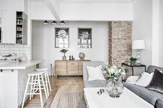 Decoración cocina abierta / Un encantador mini apartamento con cocina abierta