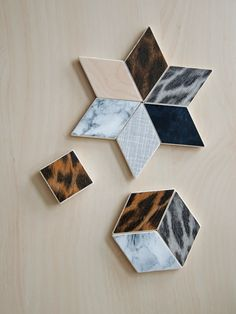 Blikfang: DIY: Contact paper #1 / Geometric magnets