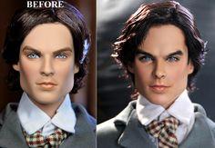 Noel+Cruz+Before+and+After   ...  VAMPIRE DIARIES DAMON SALVATORE doll - repaint by Noel Cruz