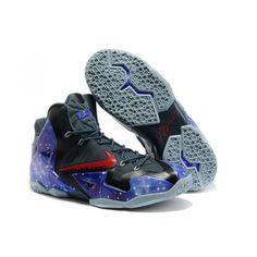 best website 068d5 554dd Hommes BasketbTous Chaussures Nike Air Max LeBron James 11 P.S Elite South  Beach Galaxy Glow in the Dark