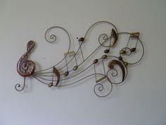 metalen muzikale wanddecoratie