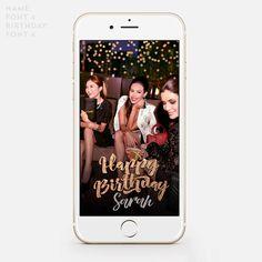 Snapchat Filter Birthday Snapchat by JessicaMichaelPrints on Etsy