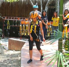 Kim Kardashian ready to zip line in Thailand