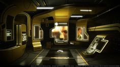 Cyberpunk Atmosphere, Future, Futuristic Interior, Deus Ex HR Concept art by ~RDumont on deviantART