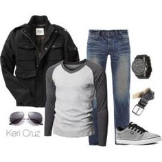 This makes me excited for fall season! Especially because I have all (or similar to) of these items that are apart of this casual night out look! Fashion Night, Look Fashion, Fashion Outfits, Mens Fashion, Fashion Rings, Winter Fashion, Fashion Casual, Guy Fashion, Fashion Shirts