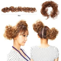 1PC Women Clip-on Dish Hair Bun Tray Ponytail Hairpiece Synthetic Hair Scrunchie Caterpillar Hair Accessories Clockwork Curl #>=#>=#>=#>=#> Click on the pin to check out discount price, color, size, shipping, etc. Save and like it!