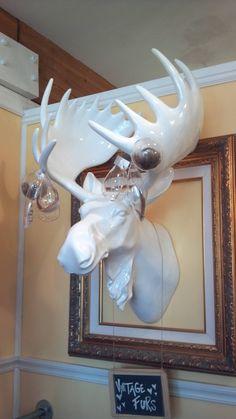 Plastic moose (or elk) head