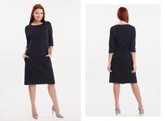 Sukienka z dresówki w kolorze ciemnego granatu, idealna na co dzień. Dostępna na naszej stronie internetowej! http://gantos.pl/pl/sukienki/57-8.html