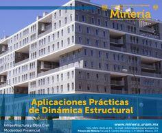 El participante conocerá los conceptos y principios fundamentales de dinámica #estructural y aplicarlos en #estructuras representativas. Visita www.mineria.unam.mx para más detalles del curso.