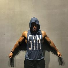 Brand Clothing Mens Workout Hooded Tank Tops Sleeveless Shirt Gyms Hoodies with Pocket Bodybuilding and Fitness Stringer Vest Gym Tank Tops, Workout Tank Tops, Workout Shirts, Ärmelloser Pullover, Hip Hop, Outfits Hombre, Workout Vest, Body Building Men, Sleeveless Hoodie