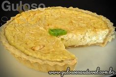 A dica para o #jantar é super fácil, mas deliciosa é a Quiche de Queijo com Alho Poró (com 3 queijo).  #Receita aqui: http://www.gulosoesaudavel.com.br/2012/06/12/quiche-queijo-alho-poro/
