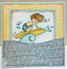 Gabriel Loves Surfing from High Hopes Rubber Stamps