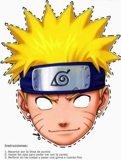 Naruto Free Printable Mask.
