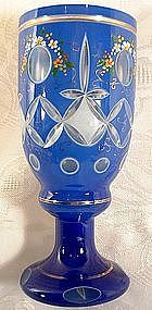 Antique Bohemian Cut Glass Goblet 19th c.