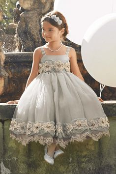 Girls Heirloom Rosette Dress: #Chasingfireflies $149.97