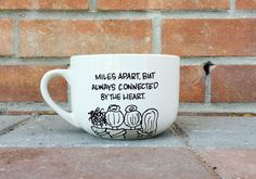 This heartfelt set for long distance BFFs. | 26 BFF Mugs That Are Better Than Friendship Bracelets