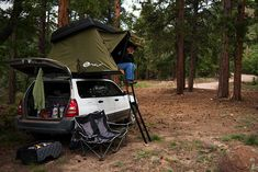 Roof Top Tent on a Forester... O shit the possibilities are endless