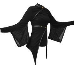 Vodabox - Kimono Shrug & Wrap w/ leather look Trim & Polo Neck    $107.80