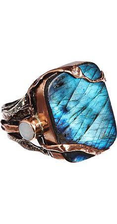 Sandra Dini Labradorite Rectangular Ring -  - Barneys.com