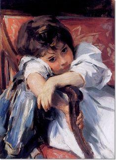 John Singer Sargent (1856-1925) was een Amerikaanse schilder, vooral bekend door zijn portretten. Hij had Amerikaanse ouders, maar werd geboren in Italië en leefde het grootste deel van zijn leven in Europa. Hij maakte in totaal ongeveer 900 olieverfschilderijen, 2000 aquarellen en talloze schetsen en houtskooltekeningen.
