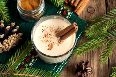 Here& a seriously tasty—and seriously strong—boozy, homemade eggnog recipe to impress your friends and family this holiday season. British Desserts, Eggnog Fudge, Eggnog Recipe, Gooey Butter Cookies, Buttery Cookies, Holiday Drinks, Holiday Recipes, Christmas Recipes, Christmas Goodies