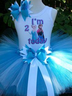 Handmade Disney princess Frozen inspired Tutu by Partyadvantage