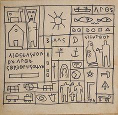 """Constructivo"" Tinta sobre papel. 13.3 x 13.7 cm. Joaquín Torres García · Obra · Artistas Vanguardia Histórica, Arte Moderno · Leandro Navarro"