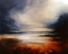 Large Abstract Painting by Simon Kenny by SimonkennysPaintings