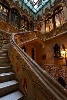 Palau del Baró de Quadras Interior  (Casa Asia) in Barcelona; architect is Josep Puig i Cadafalch.