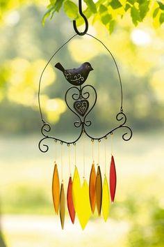 Filigree Bird Wind Chimes
