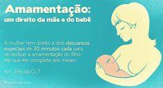 Você sabia que as mães que trabalham fora têm o direito de amamentar seus bebês garantidos por lei? #direitodotrabalhador #direito #trabalhador #trabalho #emprego #amamentação #mãe #bebê #descansosespeciais Fonte: Tribunal Superior do Trabalho