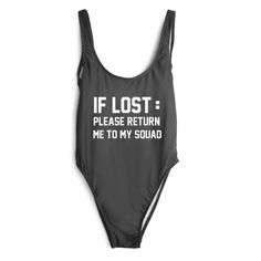 IF LOST: PLEASE RETURN ME TO MY SQUAD [SWIMSUIT]