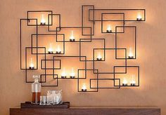 Chic Wrought Iron Wall Candle Holders You Will Admire #homeandcandle #homeandgarden #design #homedecor #inspire #comfort #athome #decorate