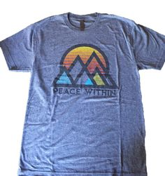 Peace-Within Short Sleeve Tri-blend t shirt athletic Gray MTN