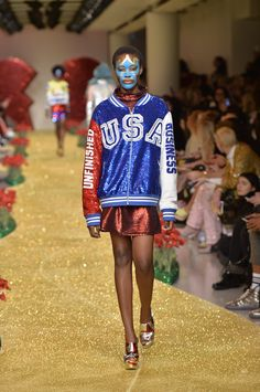 For AW17 Ashish celebrated love, unity and diversity in his rainbow coloured and slogan-heavy collection.