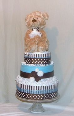 Diaper Cake.  Cute Baby Shower gift.   www.etsy.com/shop/Naturaltouchevents