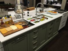 The galley workstation Kitchen And Bath Showroom, Diy Kitchen, Kitchen Design, Kitchen Ideas, Small House Renovation, Entertainment Center Kitchen, Sink Faucets, Home Furniture, Home Goods