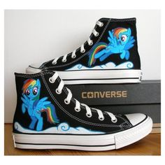 Adult Custom Hand Painted Converse Shoe, Salvador Dali, The Elephants,... ❤ liked on Polyvore featuring home and home improvement