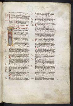 Fol317 : Evangile de Marc. L'apôtre Marc. http://www.bn-limousin.fr/items/show/2913
