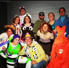 In grad school my housemates and I were all characters from Toy Story 3. I still have my Buzz costume because it took forever to make…all duct tape.