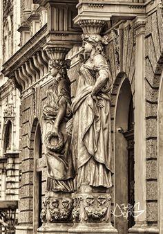 ladies - null Cityscapes, Greek, Statue, Lady, Greece, Sculptures, Urban Landscape, Sculpture