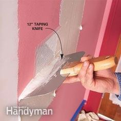 How to Paint Walls: Prepare Interior Walls for Painting - lots of tips for repairing drywall