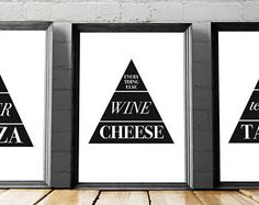 Check out our printable kitchen art selection for the very best in unique or custom, handmade pieces from our shops. Funny Kitchen, Kitchen Humor, Kitchen Wall Art, Large Wall Art, Kitchen Accessories, Gallery Wall, Printables, Handmade, Home Decor