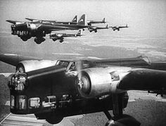 Amiot 143's in formation. The Amiot 143 was a French bomber in WWII. Slow and vulnerable it was not a success.