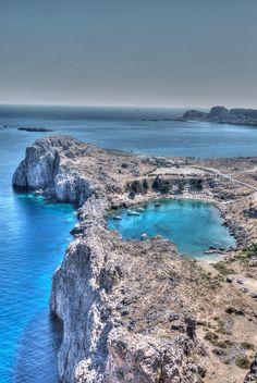 Lindos harbour, Rhodes island ~ Greece