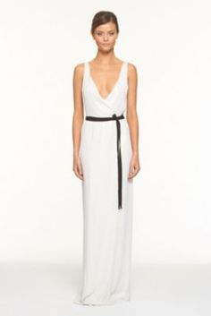 Yazhi Sequined Gown from dvf.com {on sale, but probably too boobalicious for a work party}