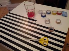 Lack table & electrical tape