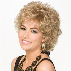 Cheerful -   From power lunch to dinner and a movie, you'll look sensational in these lush, face-framing curls.